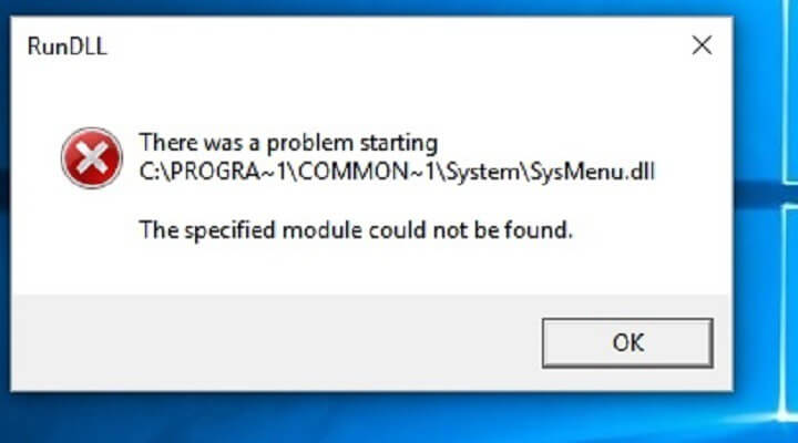 How to Fix Sysmenu.Dll Error in Windows 10 and 8.1