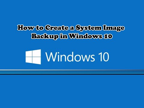create system image backup and restore in windows 10