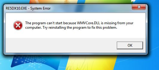 wmvcore.dll windows 7