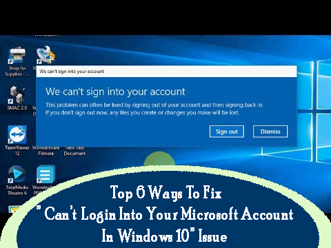 not able to sign in microsoft account windows 10