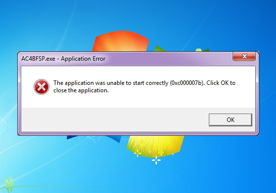Windows Application Error Fix