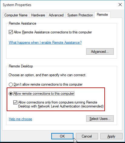 FIX: Remote Desktop Connection Not Working in Windows 10