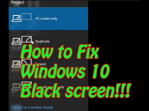 how to fix windows 10 black screen issues. Black Bedroom Furniture Sets. Home Design Ideas
