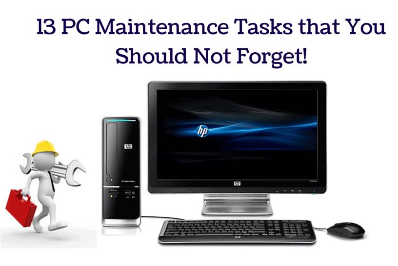 PC maintenance tasks