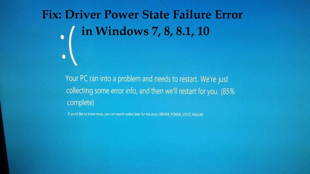 driver power state failure windows 8.1