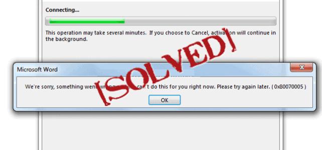 office activation error 0x80070005 Archives - Fix Windows Errors Blog