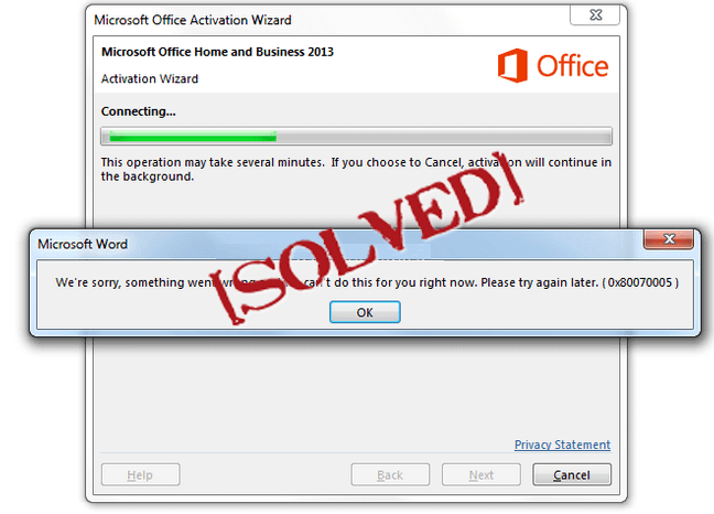 Quick Tricks to Fix Error Code 0x80070005 during Office