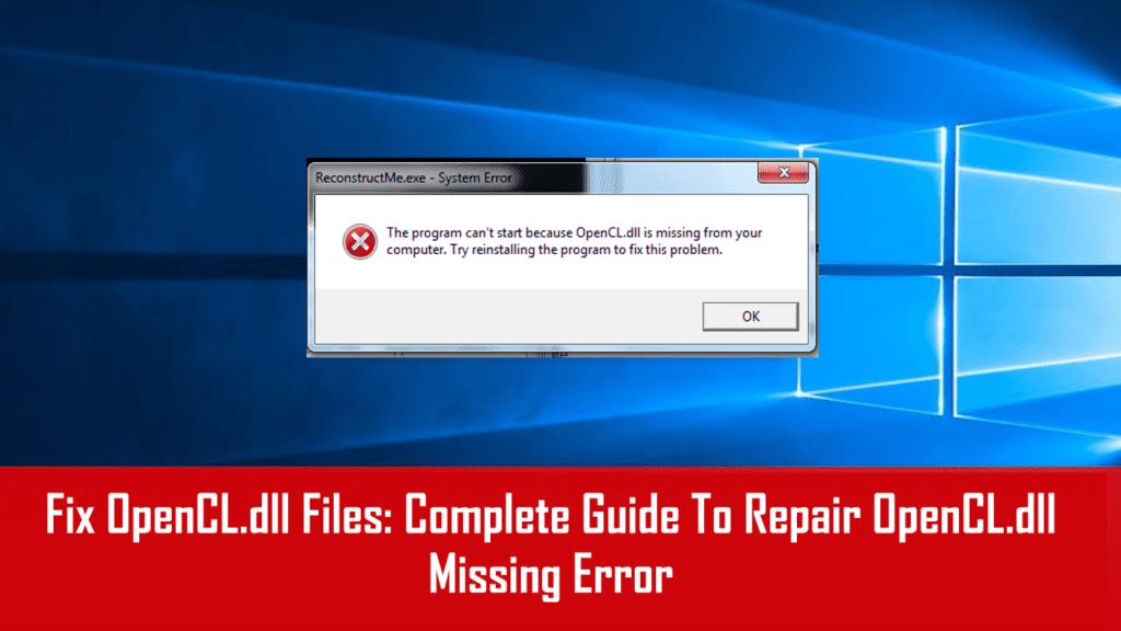 missing dll error