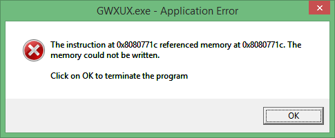 [FIX] GWXUX.exe Application Error in Windows 10