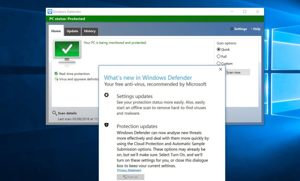 improved Windows Defender