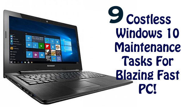 costless windows 10 maintenance