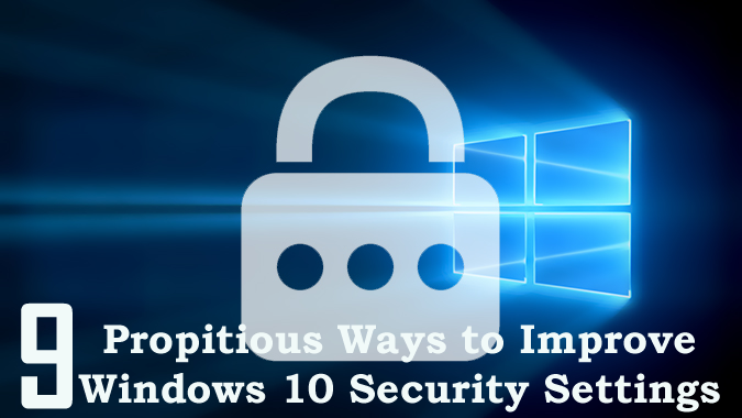 how to change security settings on windows 10