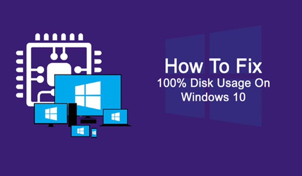 how to fix disk at 100 windows 10