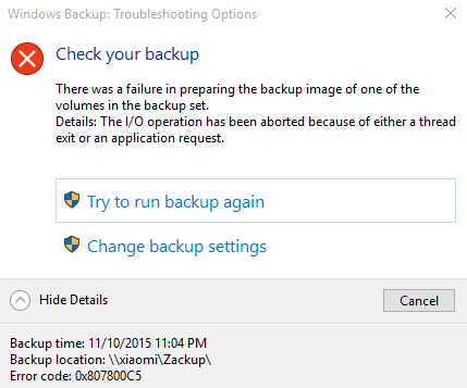 system backup windows 10