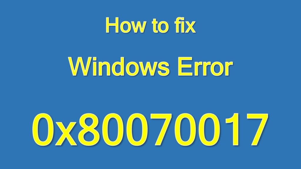 windows-error-0x80070017