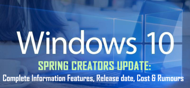Windows 10 Spring Creators Update: Complete Information Features, Release date, Cost & Rumours