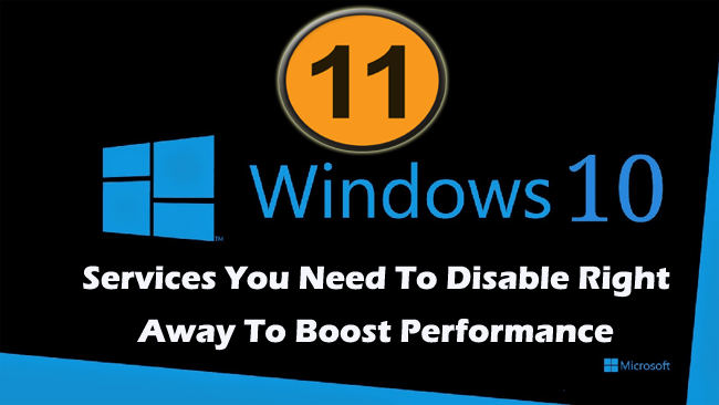 disbale Windows 10 services