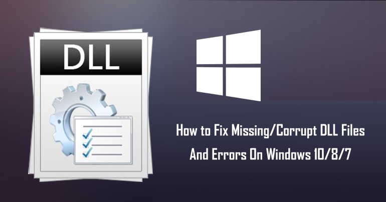 fix corrupt DLL files