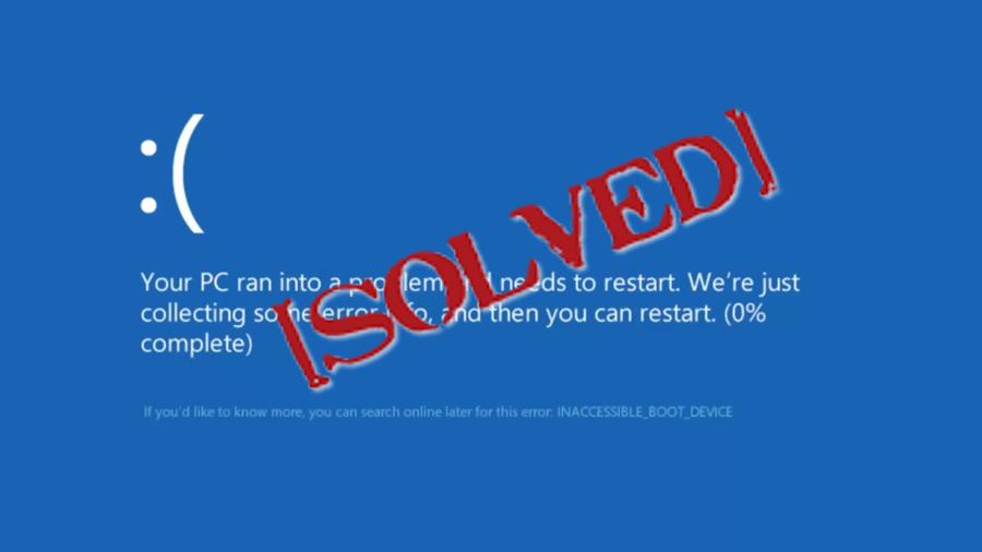 fix your PC ran into a problem and needs to restart